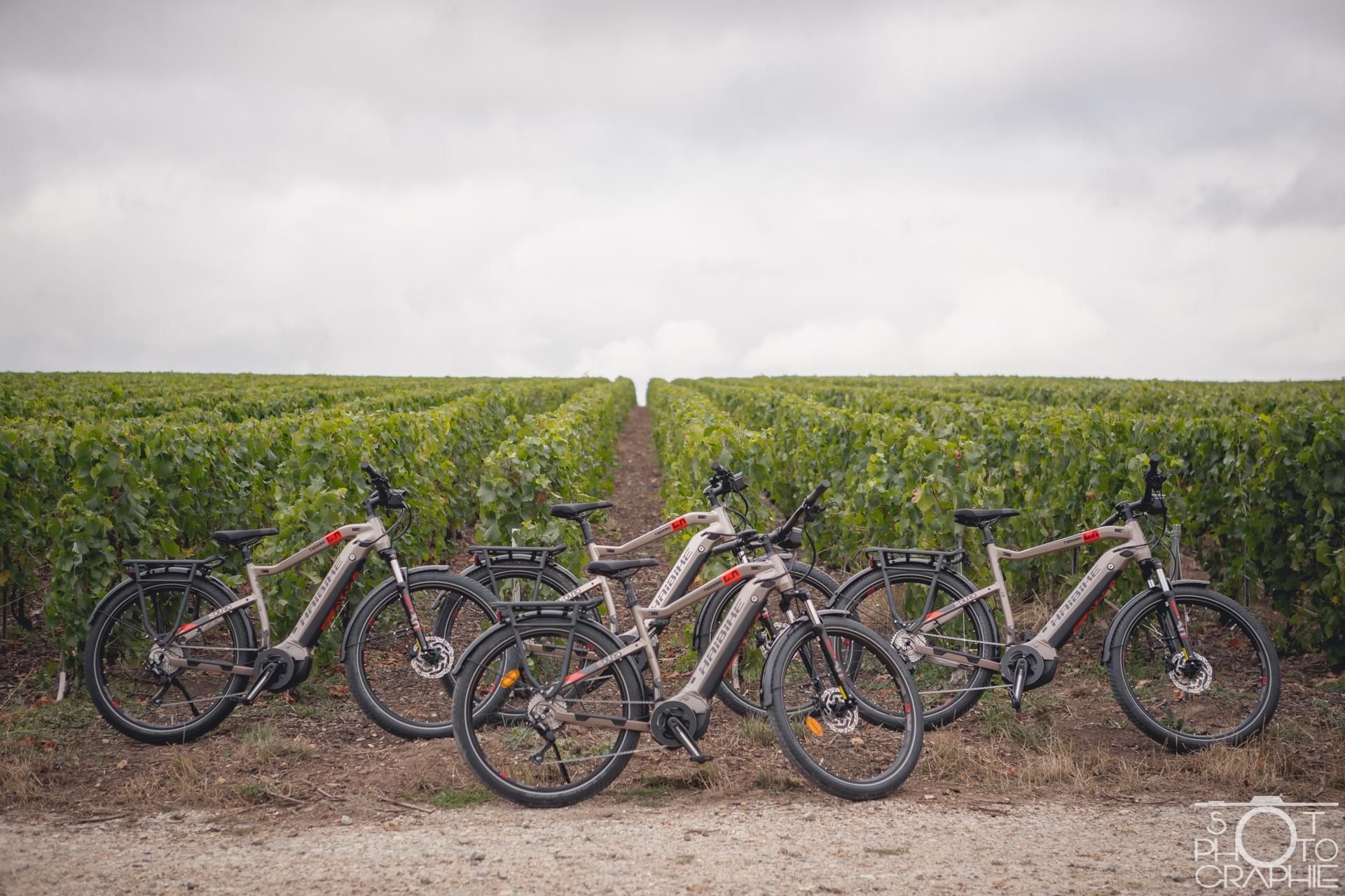 vélo électrique en champagne